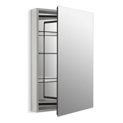 Catalan 24-1/8 W x 36 H Aluminum Single-Door Medicine Cabinet with 170 Degree Hinge