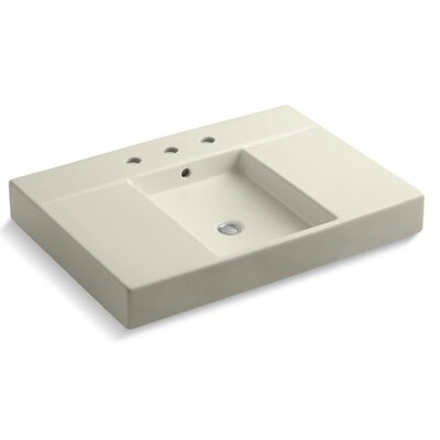 Traverse Widespread Faucet Holes 31 Single Bathroom Vanity Top Finish: Almond