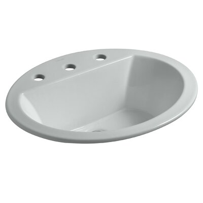 Bryant Ceramic Oval Drop-In Bathroom Sink with Overflow Finish: Ice Grey