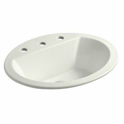 Bryant Ceramic Oval Drop-In Bathroom Sink with Overflow Finish: Dune