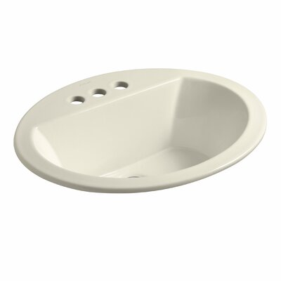 Bryant Ceramic Oval Drop-In Bathroom Sink with Overflow Finish: Thunder Grey, Faucet Hole Style: Single