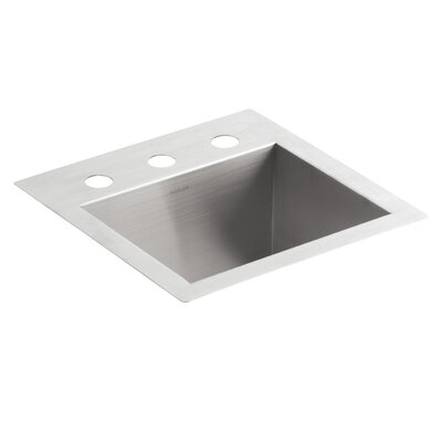 Staccato 33 x 22 x 8-5/16 Top-Mount Double-Equal Bowl Kitchen Sink with 3 Faucet Holes