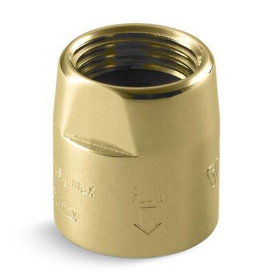 Persona Vacuum Breaker, 1/2 x 1/2 Finish: Vibrant Polished Brass