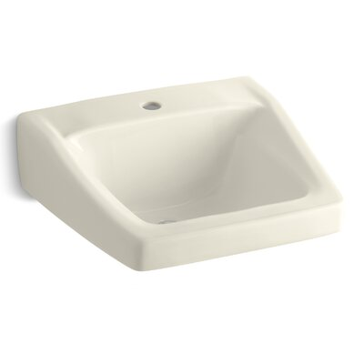 Chesapeake 20 Wall Mount Bathroom Sink Finish: Almond