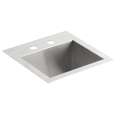 Vault Top-Mount/Under-Mount Bar Sink with 2 Faucet Holes