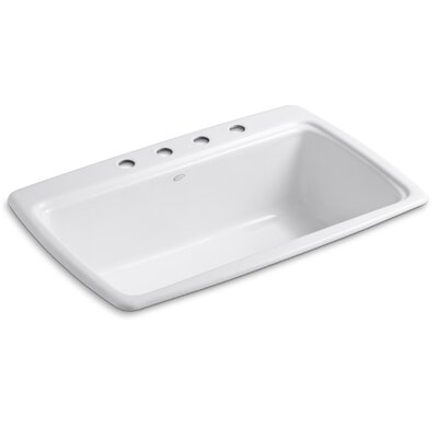 Cape Dory 33 x 22 x 9-5/8 Top-Mount Single-Bowl Kitchen Sink Finish: Cane Sugar, Faucet Drillings: 3 Hole