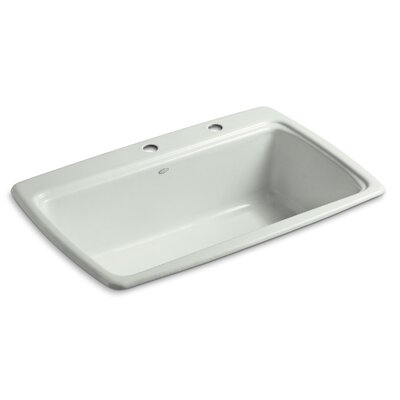 Cape Dory 33 x 22 x 9-5/8 Top-Mount Single-Bowl Kitchen Sink Finish: Sea Salt, Number of Faucet Holes: 2