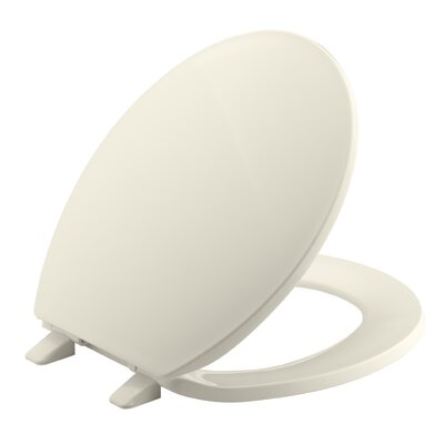 Archer Quick-Release Hinges Round-Front Toilet Seat Finish: Almond
