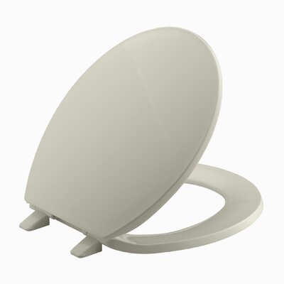 Brevia with Quick-Release Hinges Round-Front Toilet Seat Finish: Sandbar