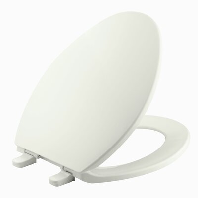 Brevia with Quick-Release Hinges Elongated Toilet Seat Finish: Dune