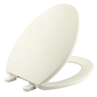 Brevia with Quick-Release Hinges Elongated Toilet Seat Finish: Biscuit