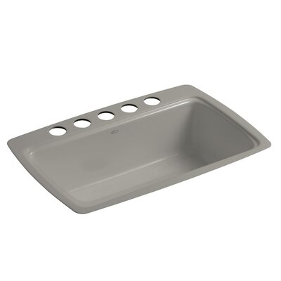Cape Dory 33 x 22 x 9-5/8 Under-Mount Single-Bowl Kitchen Sink with 5 Oversize Faucet Holes Finish: Cashmere