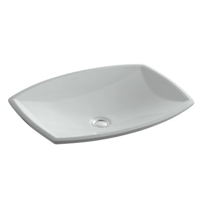 Kelston Rectangular Undermount Bathroom Sink Sink Finish: Ice Grey