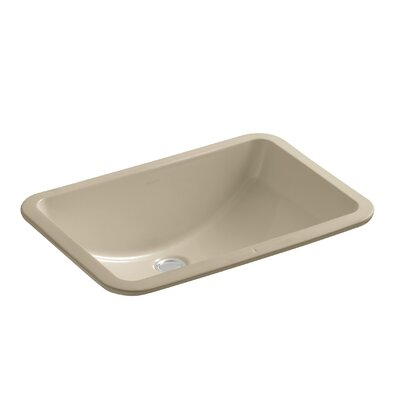 Ladena Rectangular Undermount Bathroom Sink with Overflow Finish: Mexican Sand with Glazed Underside