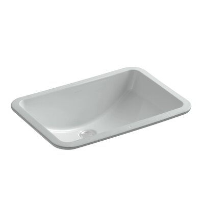 Ladena Ceramic Rectangular Undermount Bathroom Sink Finish: Ice Grey with Glazed Underside
