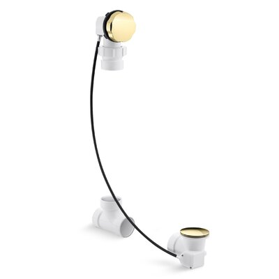 Clearflocable 27 Pop-Up Tub Drain Finish: Vibrant Polished Brass