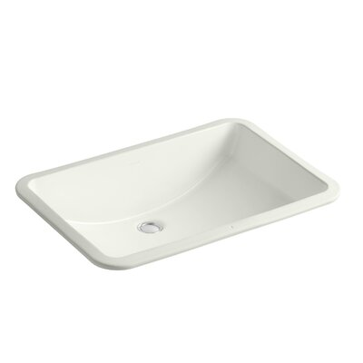 Ladena Ceramic Rectangular Undermount Bathroom Sink with Overflow Sink Finish: Dune