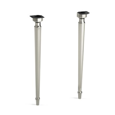Kathryn Octagonal Tapered Brass Table Legs Finish: Vibrant Polished Nickel