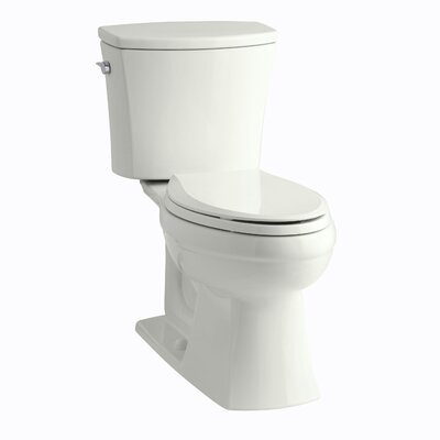 Kelston Comfort Height Two-Piece Elongated 1.28 GPF Toilet with Aquapiston Flush Technology and Left-Hand Trip Lever Finish: Dune