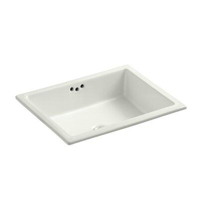 Kathryn Rectangular Undermount Bathroom Sink with Overflow Finish: Dune, Glazed Underside: No