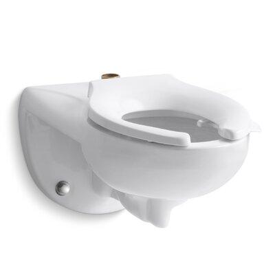 Kingston Dual Flush Elongated Toilet Bowl Finish: White