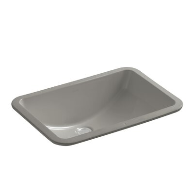 Ladena Rectangular Undermount Bathroom Sink with Overflow Finish: Cashmere with Glazed Underside