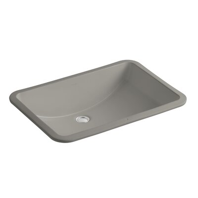 Ladena Rectangular Undermount Bathroom Sink with Overflow Sink Finish: Cashmere