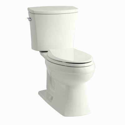 Kelston Comfort Height Two-Piece Elongated 1.6 GPF Toilet with Aquapiston Flush Technology and Left-Hand Trip Lever Finish: Dune