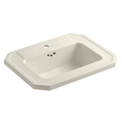 Kathryn Self Rimming Bathroom Sink Finish: Almond