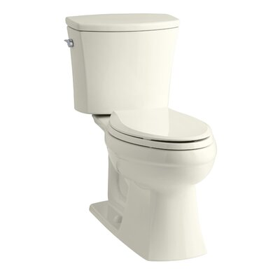 Kelston Comfort Height Two-Piece Elongated 1.6 GPF Toilet with Aquapiston Flush Technology and Left-Hand Trip Lever Finish: Biscuit