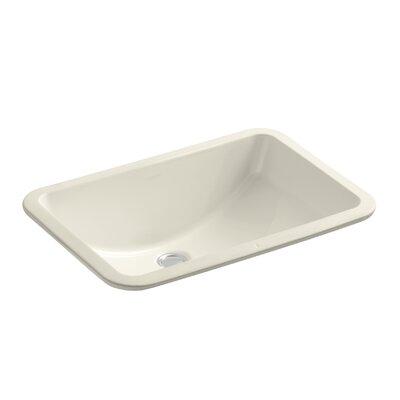 Ladena Ceramic Rectangular Undermount Bathroom Sink Finish: Almond with Glazed Underside
