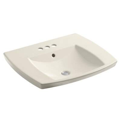 Kelston Self Rimming Bathroom Sink 8 Finish: Almond, Faucet Hole Style: 8 Widespread