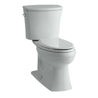Kelston Comfort Height Two-Piece Elongated 1.28 GPF Toilet with Aquapiston Flush Technology and Left-Hand Trip Lever Finish: Ice Grey