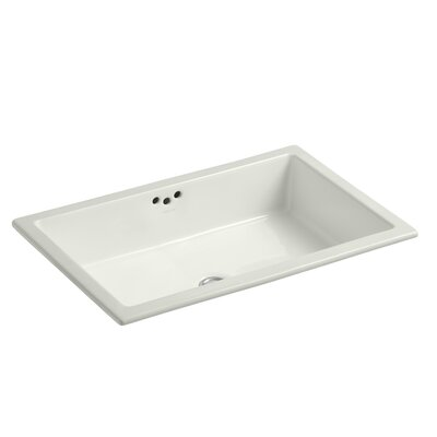 Kathryn Ceramic Rectangular Undermount Bathroom Sink with Overflow Sink Finish: Dune