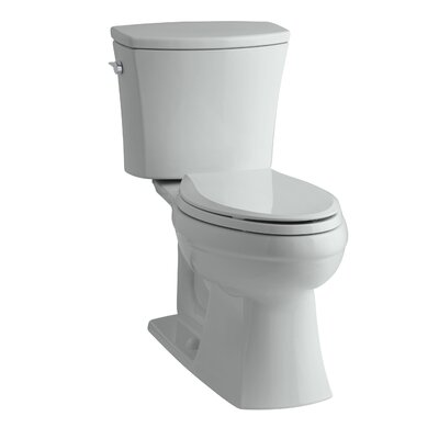 Kelston Comfort Height Two-Piece Elongated 1.6 GPF Toilet with Aquapiston Flush Technology and Left-Hand Trip Lever Finish: Ice Grey