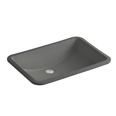 Ladena Ceramic Rectangular Undermount Bathroom Sink with Overflow Sink Finish: Thunder Grey