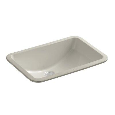 Ladena Ceramic Rectangular Undermount Bathroom Sink Finish: Sandbar with Glazed Underside