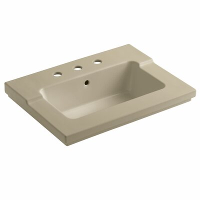 Tresham 25 Single Bathroom Vanity Top Finish: Mexican Sand, Faucet Hole Style: Single