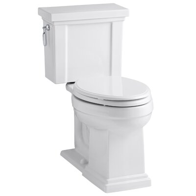 Tresham Comfort Height 1.28 GPF Elongated Two-Piece Toilet Finish: White