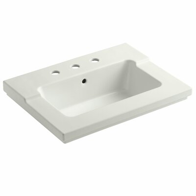 Tresham 25 Single Bathroom Vanity Top Finish: Dune, Faucet Hole Style: 4 Centerset