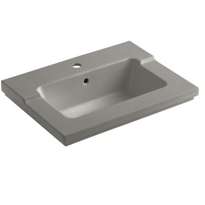 Tresham 25 Single Bathroom Vanity Top Finish: Cashmere, Faucet Hole Style: Single
