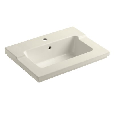 Tresham� 25 Single Bathroom Vanity Top Vanity Top Finish: Almond, Faucet Hole Style: 8 Widespread