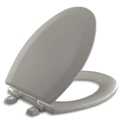Triko Elongated Toilet Seat with Plastic Hinges Finish: Cashmere