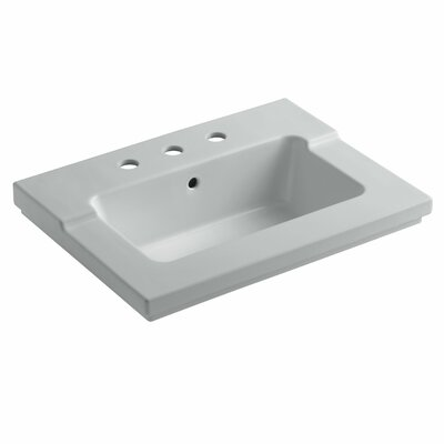 Tresham 25 Single Bathroom Vanity Top Finish: Ice Grey, Faucet Hole Style: Single