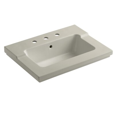 Tresham 25 Single Bathroom Vanity Top Finish: Sandbar, Faucet Hole Style: 8 Widespread