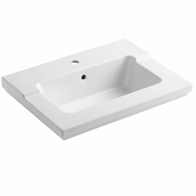 Tresham� 25 Single Bathroom Vanity Top Vanity Top Finish: White, Faucet Hole Style: 4 Centerset