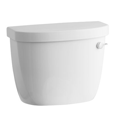Cimarron 1.28 GPF High Efficiency Toilet Tank with Aquapiston Flush Technology and Right-Hand Trip Lever Finish: White