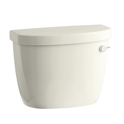 Cimarron 1.28 GPF High Efficiency Toilet Tank with Aquapiston Flush Technology and Right-Hand Trip Lever Finish: Biscuit