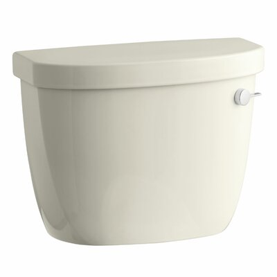 Cimarron 1.28 GPF High Efficiency Toilet Tank with Aquapiston Flush Technology and Right-Hand Trip Lever Finish: Almond