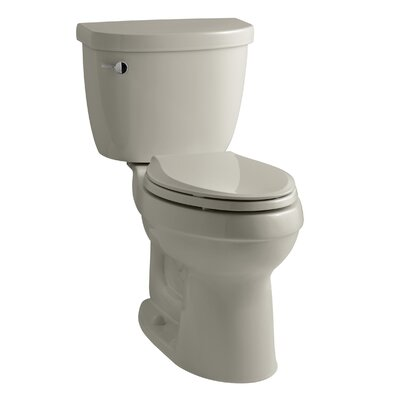 Cimarron Comfort Height Two-PieceToilet with Aquapiston Flush Technology and Left-Hand Trip Lever Finish: Sandbar